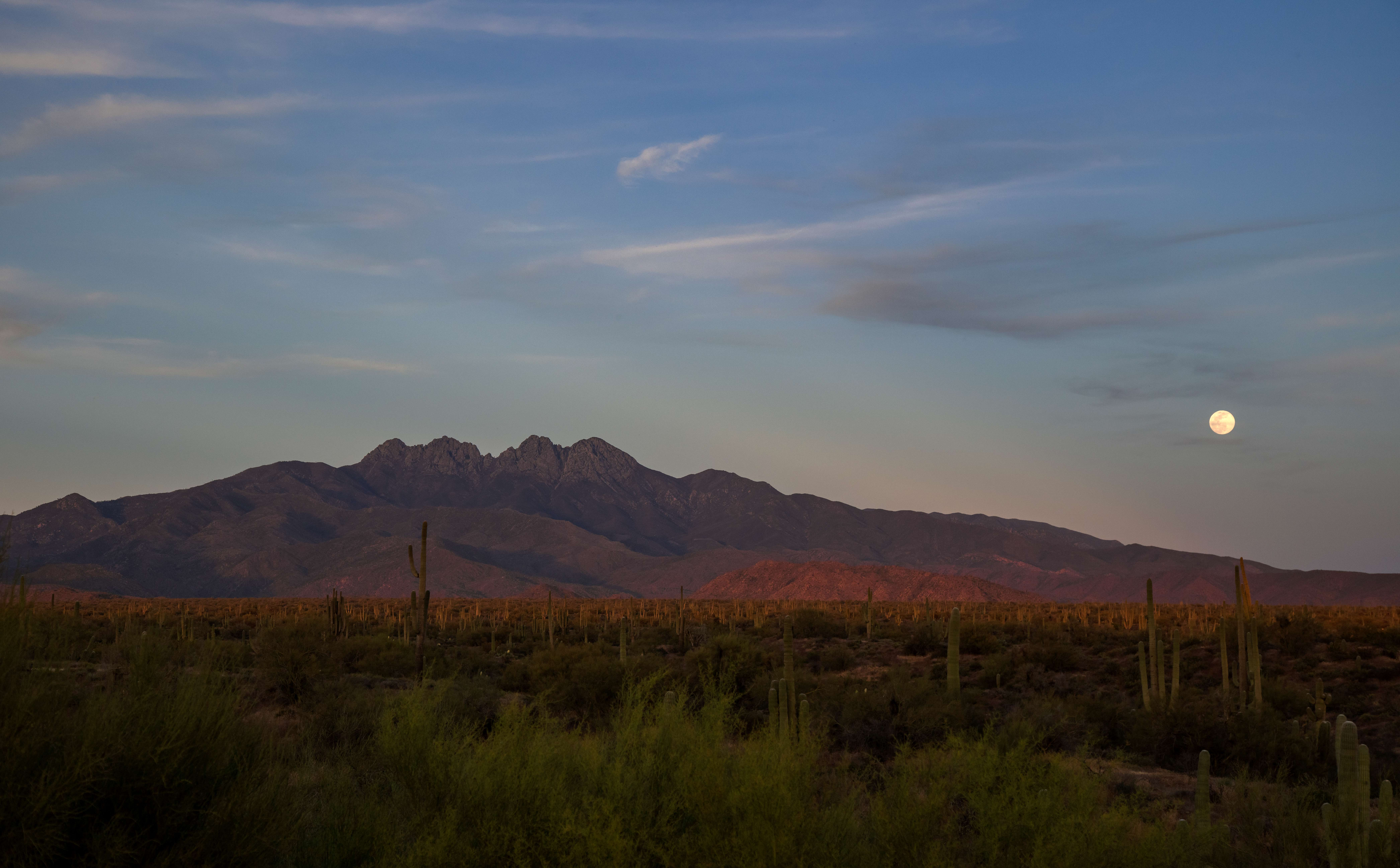Moon over Four Peaks