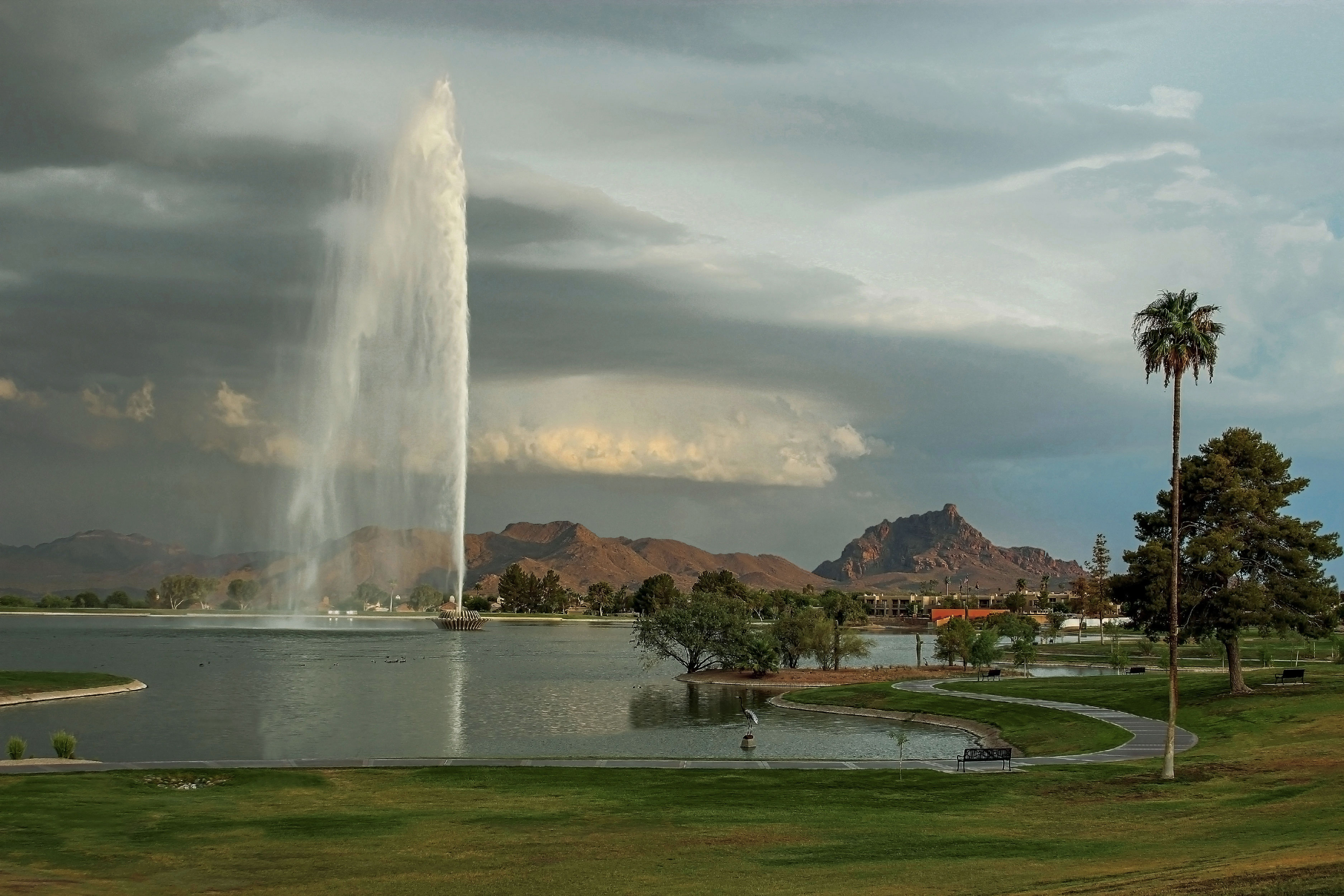Storm at Fountain Park